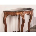 Image of Antique French Louis XV Gold Leaf Console Table, Original Marble Top, circa 1810