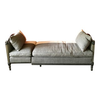 Vintage Louis XVI Style Upholstered Daybed