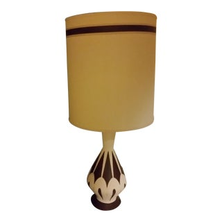 Mid-Century Modern White Table Lamp