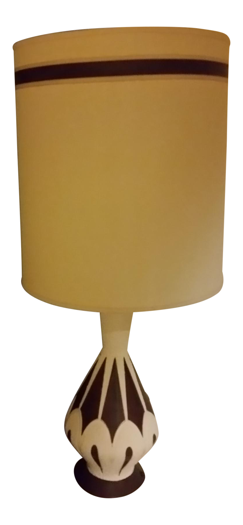 Mid Century Modern White Table Lamp