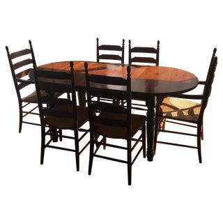 Second hand dark wood dining table and chairs dining room sets on hayneedle dining table - Second hand dining room tables ...