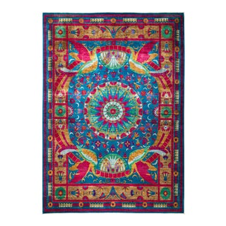 """Eclectic Hand Knotted Area Rug - 9' 1"""" X 12' 5"""""""