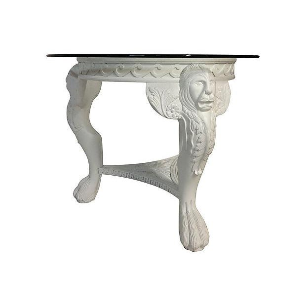 Carved Lion's Head Center Table - Image 4 of 4
