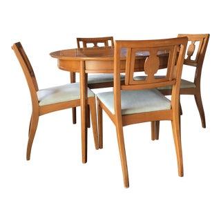 Drexel 4-Piece Fruitwood Dining Set