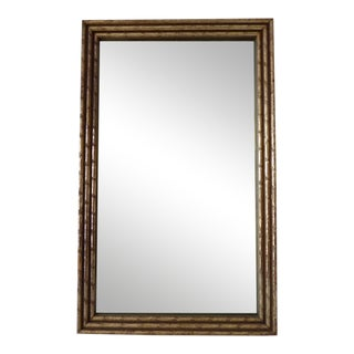 Hollywood Regency Gilded Faux Bamboo Wall Mirror