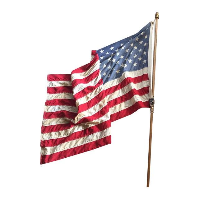 Vintage Weathered American Flag - Image 1 of 7