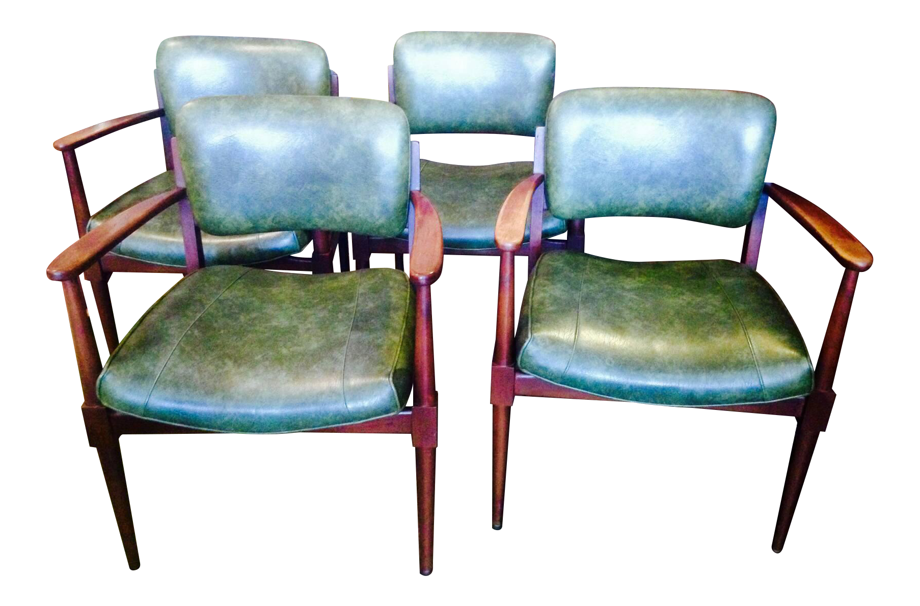 Gunlock Mid Century Modern Dining/Occassional Chairs   Set Of 4