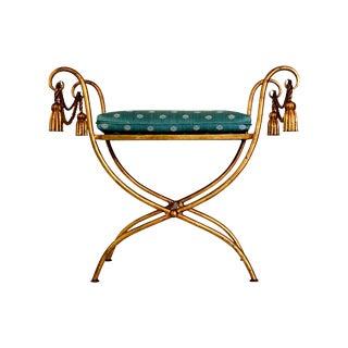 Gilded Rope & Tassel Bench