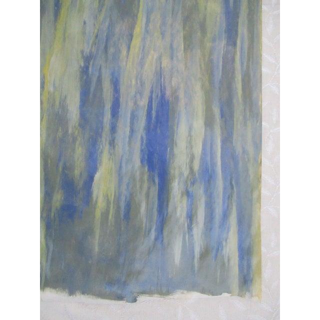 Alaina Blue Green Streak Painting - Image 10 of 10