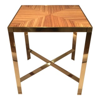 Karl Springer Zebrawood Side Table