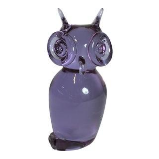 Murano Glass Owl Figurine