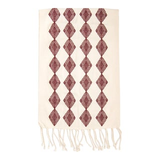 Boho Chic Hand Loomed Diamond Pattern Table Runner