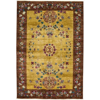 """Suzani, Hand Knotted Area Rug - 6' 3"""" x 9' 0"""""""
