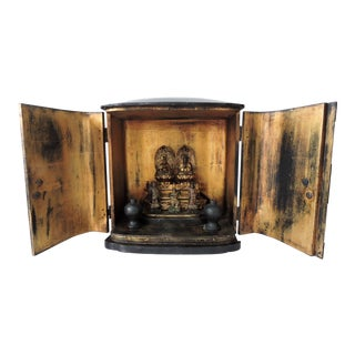 Antique Japanese Zushi Shrine With Box