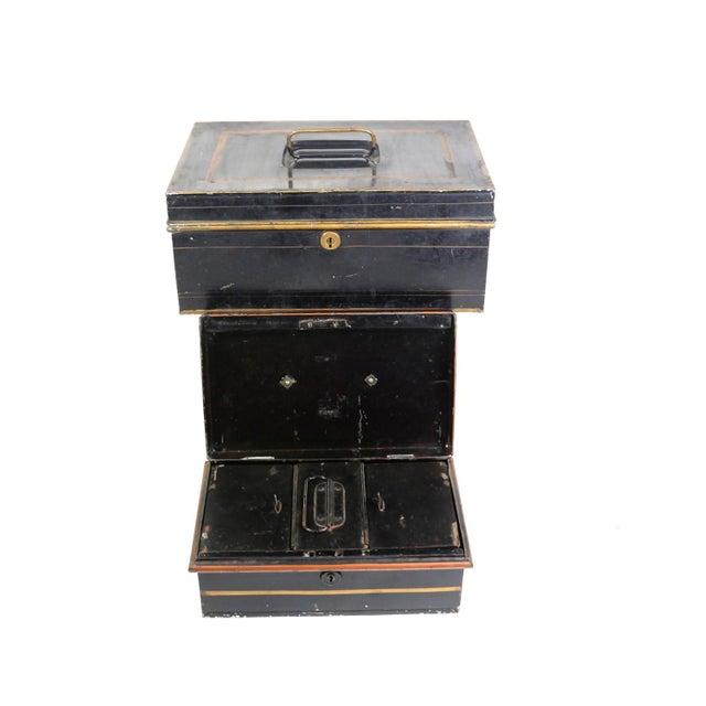 1920s English Metal Cash Boxes - Set of 3 - Image 6 of 6