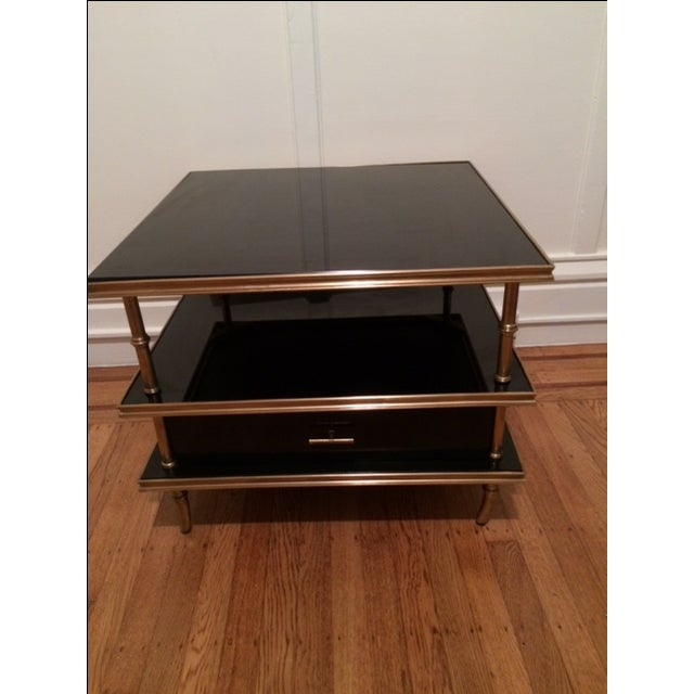 Small Tempered Glass Coffee Table: Black Tempered Glass Coffee & End Table