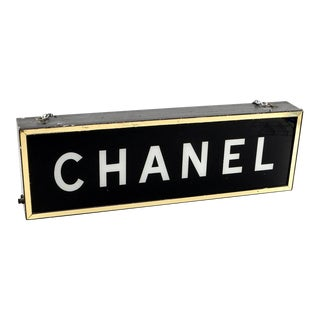 1950s Vintage Chanel Illuminating Display Store Light Sign