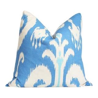 Ikat Blue Pillow Cover