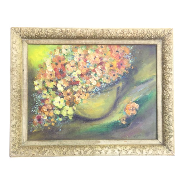 Floral Oil Painting - Image 1 of 8