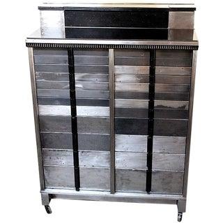 Industrial Vintage Metal Medical Cabinet