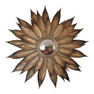 Vintage Round Sunburst Wall Mirror