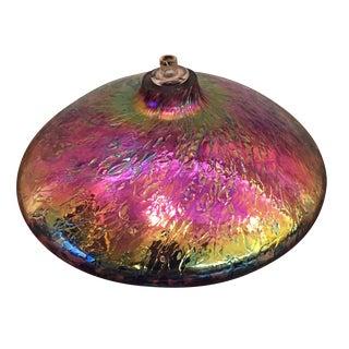 Iridescent Glass Oil Lamp