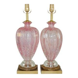 Pink Murano Ballerina Lamps