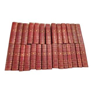 Tolstoy Leather Bound Books - Set of 28