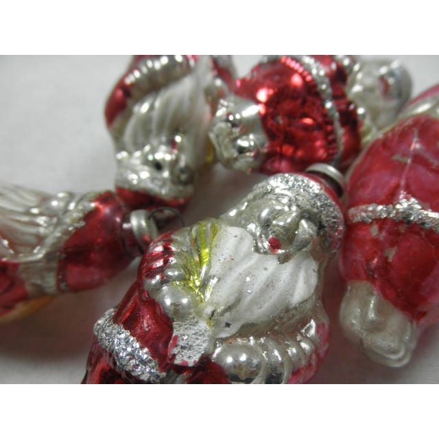 Glass Santa Ornaments - Set of 5 - Image 3 of 3