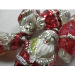Image of Glass Santa Ornaments - Set of 5