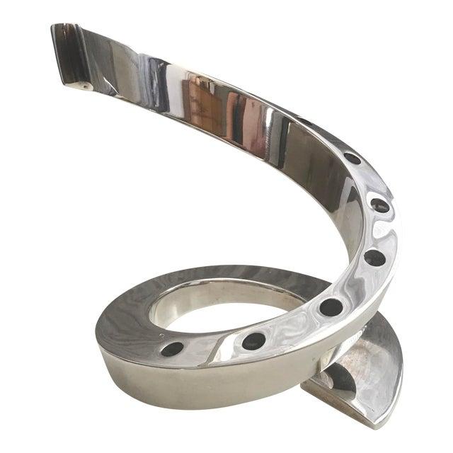 Mid-Century Dansk Spiral Chrome Candle Holder - Image 1 of 4