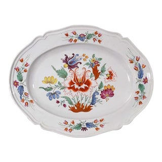 Italian Doccia Porcelain Dish decorated in the Tulipano Pattern.