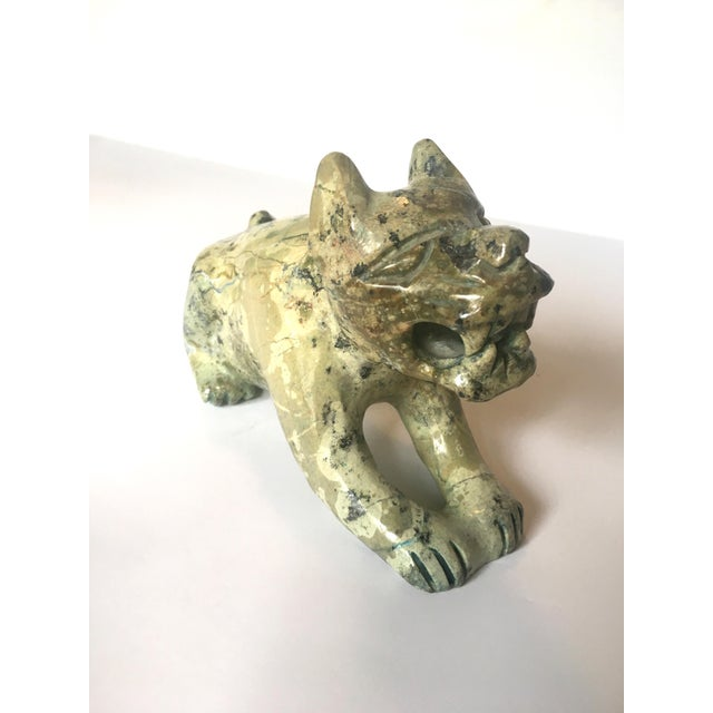 Carved Stone Guardian Lion - Image 2 of 9