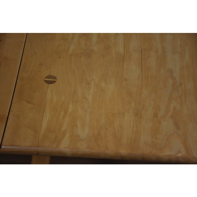 Mid-Century Maple Drop Leaf Dining Table - Image 4 of 11