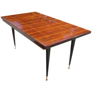 French Art Deco / Art Moderne Macassar Ebony Dining Table / Desk, circa 1940s