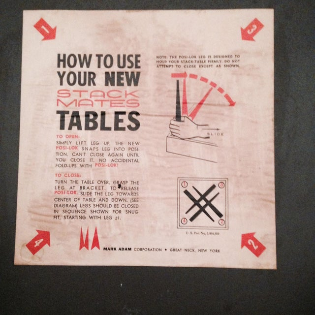 Mark Adam Mid-Century Walnut Folding Tables - Pair - Image 7 of 7