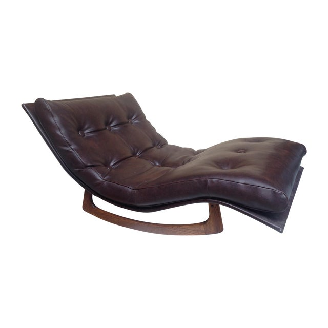 Adrian pearsall wave chaise rocker chairish for Adrian pearsall rocking chaise