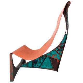 Sculptural Brutalist Chair on the Style of Paul Evans