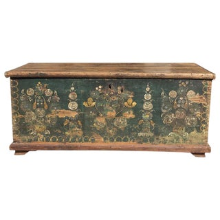 19th C. Swedish Painted Blanket Chest
