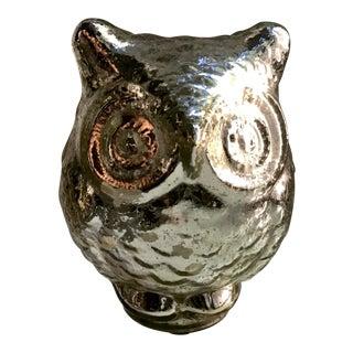 Decorative Mercury Glass Owl Figurine
