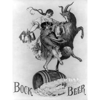 'Lady & Goat' Bock Beer Ad Print