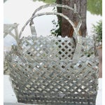 Image of Valentine's Day Anniversary Woven Tin Basket