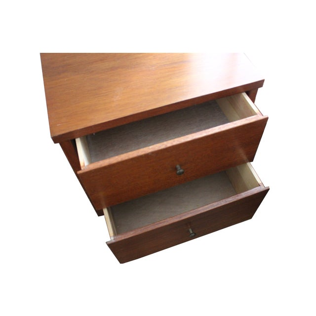 Image of Mid-Century Two-Drawer Nightstand