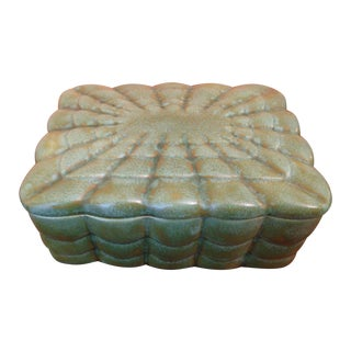 Art Deco Green Ceramic Lidded Box