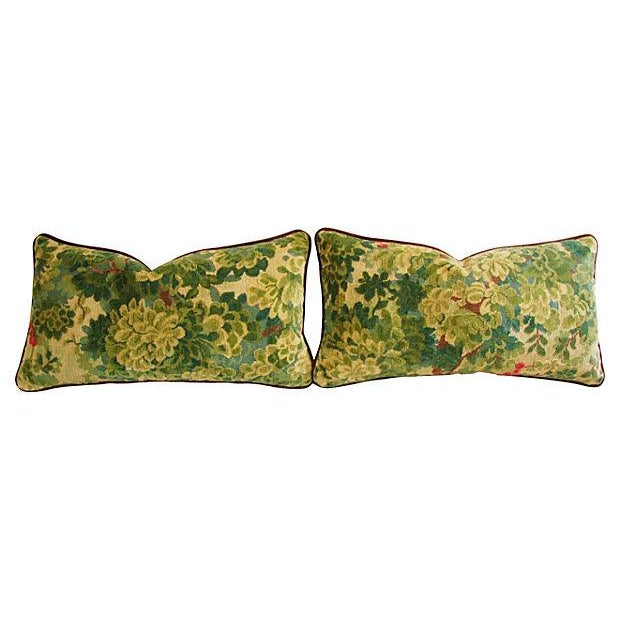 Image of Designer Scalamandre Velvet Marly Pillows - A Pair