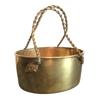 Mottaheden Design Brass Basket Planter Dish