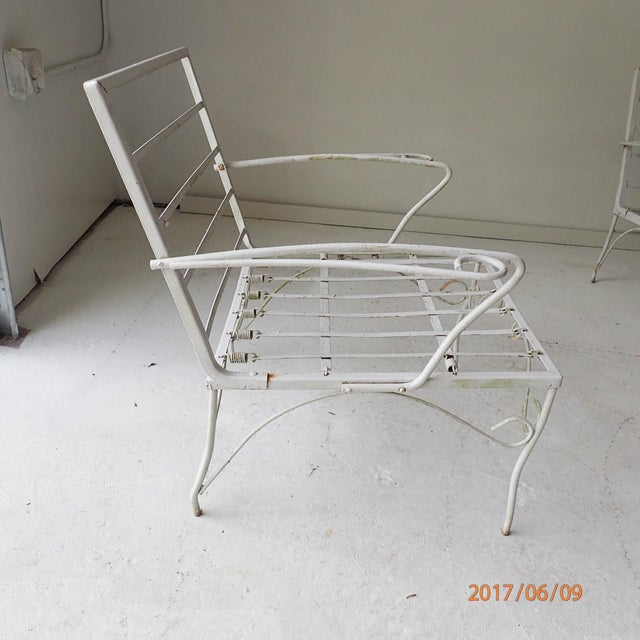 Patio Furniture Southern New Jersey: 1950s Vintage Iron Patio Furniture Set