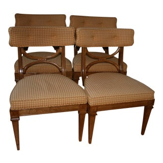 Mid-Century Danish Upholstered Wood Dining Chairs - A Pair