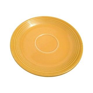 Vintage Yellow Fiesta Fiestaware Saucer Cup Plate