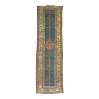 19th Century Antique Kazak Runner Rug - 3'4'' x 12'4''